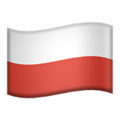 Flag: Poland on Apple iOS 13.3