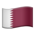 Flag: Qatar on Apple iOS 13.3