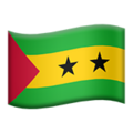 Flag: São Tomé & Príncipe on Apple iOS 13.3