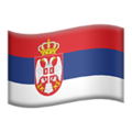 Flag: Serbia on Apple iOS 13.3
