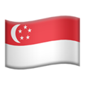 Flag: Singapore on Apple iOS 13.3