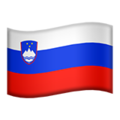 Flag: Slovenia on Apple iOS 13.3