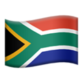 Flag: South Africa on Apple iOS 13.3
