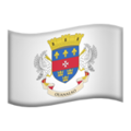 Flag: St. Barthélemy on Apple iOS 13.3