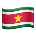 Flag: Suriname on Apple iOS 13.3