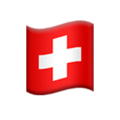 Flag: Switzerland on Apple iOS 13.3