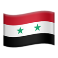 Flag: Syria on Apple iOS 13.3