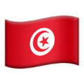 Flag: Tunisia on Apple iOS 13.3