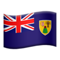 Flag: Turks & Caicos Islands on Apple iOS 13.3