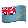 Flag: Tuvalu on Apple iOS 13.3