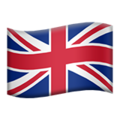 Flag: United Kingdom on Apple iOS 13.3