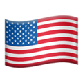Flag: United States on Apple iOS 13.3