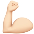 Flexed Biceps: Light Skin Tone on Apple iOS 13.3