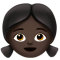 Girl: Dark Skin Tone on Apple iOS 13.3