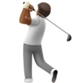 Person Golfing: Medium-Dark Skin Tone on Apple iOS 13.3