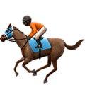 Horse Racing: Dark Skin Tone on Apple iOS 13.3