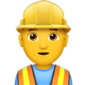 Man Construction Worker on Apple iOS 13.3