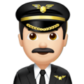 Man Pilot: Light Skin Tone on Apple iOS 13.3