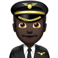 Man Pilot: Dark Skin Tone on Apple iOS 13.3