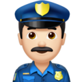 Man Police Officer: Light Skin Tone on Apple iOS 13.3