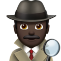 Man Detective: Dark Skin Tone on Apple iOS 13.3