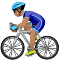 Man Biking: Medium Skin Tone on Apple iOS 13.3