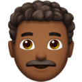 Man: Medium-Dark Skin Tone, Curly Hair on Apple iOS 13.3