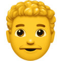 Man: Curly Hair on Apple iOS 13.3