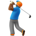 Man Golfing: Medium-Dark Skin Tone on Apple iOS 13.3