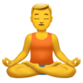 Man in Lotus Position on Apple iOS 13.3