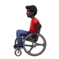 Man in Manual Wheelchair: Dark Skin Tone on Apple iOS 13.3