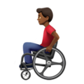 Man in Manual Wheelchair: Medium-Dark Skin Tone on Apple iOS 13.3
