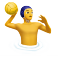 Man Playing Water Polo on Apple iOS 13.3