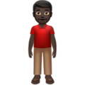 Man Standing: Dark Skin Tone on Apple iOS 13.3