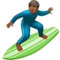 Man Surfing: Medium-Dark Skin Tone on Apple iOS 13.3