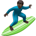 Man Surfing: Dark Skin Tone on Apple iOS 13.3