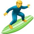 Man Surfing on Apple iOS 13.3