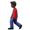 Man Walking: Dark Skin Tone on Apple iOS 13.3