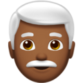 Man: Medium-Dark Skin Tone, White Hair on Apple iOS 13.3