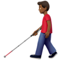 Man With Probing Cane: Medium-Dark Skin Tone on Apple iOS 13.3