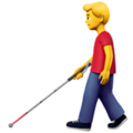 Man with White Cane on Apple iOS 13.3