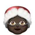 Mrs. Claus: Dark Skin Tone on Apple iOS 13.3