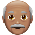 Old Man: Medium Skin Tone on Apple iOS 13.3