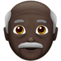 Old Man: Dark Skin Tone on Apple iOS 13.3