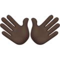 Open Hands: Dark Skin Tone on Apple iOS 13.3
