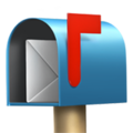 Open Mailbox with Raised Flag on Apple iOS 13.3