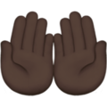 Palms Up Together: Dark Skin Tone on Apple iOS 13.3