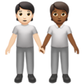 People Holding Hands: Light Skin Tone, Medium-Dark Skin Tone on Apple iOS 13.3