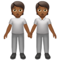 People Holding Hands: Medium-Dark Skin Tone on Apple iOS 13.3