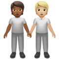 People Holding Hands: Medium-Dark Skin Tone, Medium-Light Skin Tone on Apple iOS 13.3